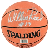 Willis Reed Autographed New York Knicks NBA Spalding Basketball (JSA)