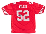 Patrick Willis Autographed San Francisco 49ers Reebok On Field Jersey (PSA)