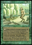 Magic the Gathering Legends Single Willow Satyr - MODERATE PLAY (MP)