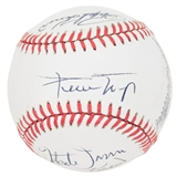 Hall of Fame Autographed Rawlings National League MLB Baseball (JSA) 8 Signatures