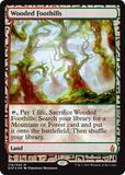 Magic the Gathering Zendikar Expedition Single Wooded Foothills Foil NEAR MINT (NM)