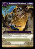 WoW Servants Single Papa Hummel's Pet Biscuit (SoB-LOOT1) Unscratched Loot Card