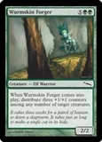 Magic the Gathering Mirrodin Single Wurmskin Forger Foil