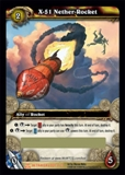 WoW Servants Single X-51 Nether-Rocket Loot Card (SoB-LOOT3) Unscratched
