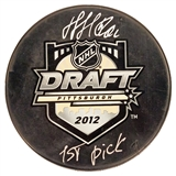 Nail Yakupov Autographed Draft Hockey Puck with 1st Pick (Frameworth)