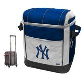 Coleman New York Yankees Soft-Side Rolling 50 Can Cooler