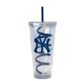 New York Yankees 22 oz Double Insulated Swirl Tumbler - Regular Price $14.95 !!!