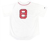 Carl Yastrzemski Boston Red Sox Autographed Baseball Jersey w/inscrip (JSA)