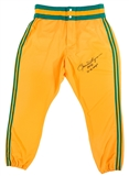 Rollie Fingers Autographed Oakland Athletics MLB Authentic Majestic Pants (PSA)