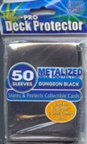 Ultra Pro Yu-Gi-Oh! Small Size Dungeon Black Deck Protectors (50 Count Pack)
