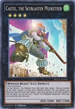 Yu-Gi-Oh Duelist Alliance Single Castel, the Skyblaster Musketeer - NEAR MINT (NM)