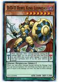 Yu-Gi-Oh DOCS 1st Ed. Single D/D/D Rebel King Leonidas Super Rare - NEAR MINT (NM)