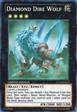 Yu-Gi-Oh Collectible Tins Single Diamond Dire Wolf Super Rare - NEAR MINT (NM)