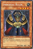 Yu-Gi-Oh Raging Battle 1st Ed. Single Immortal Ruler Secret Rare - SLIGHT PLAY (SP)