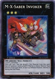 Yu-Gi-Oh Order of Chaos 1st Ed. Single M-X-Saber Invoker Secret Rare - NEAR MINT (NM)