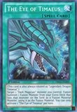 Yu-Gi-Oh Dragons of Legend 1st Ed. Single The Eye of Timaeus Secret Rare - NEAR MINT