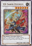 Yu-Gi-Oh Absolute Powerforce 1st Ed. Single XX-Saber Hyunlei Ultra Rare - SLIGHT PLAY (SP)