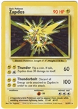 Pokemon Base Set 1 Single Zapdos 16/102 - HEAVY PLAY (HP)