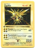 Pokemon Base Set 1 Single Zapdos 16/102 1st Edition Shadowless - MODERATE PLAY