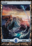 Magic the Gathering Zendikar Single Island Extended Art FOIL (#236) - SLIGHT PLAY