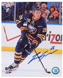 Zemgus Girgensons Autographed Buffalo Sabres Skating 8x10 Hockey Photo