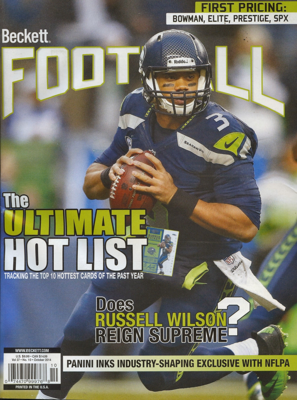 2014 beckett football monthly price guide 285 october