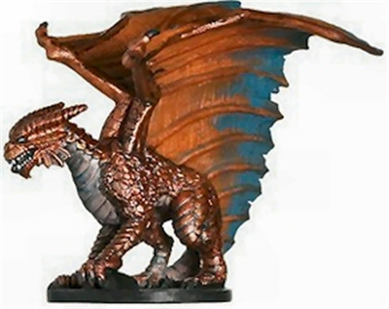Dnd Copper Dragon: Dungeons & Dragons Mini Angelfire Large Copper Dragon
