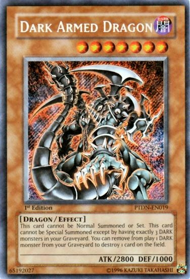 Yu-Gi-Oh Phantom Darkness 1st Edition Single Dark Armed ...