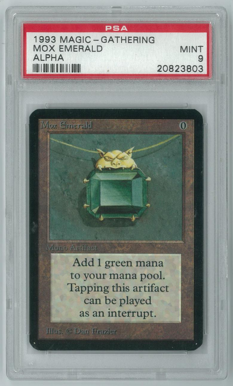 magic the gathering alpha single mox emerald psa 9 da card world. Black Bedroom Furniture Sets. Home Design Ideas