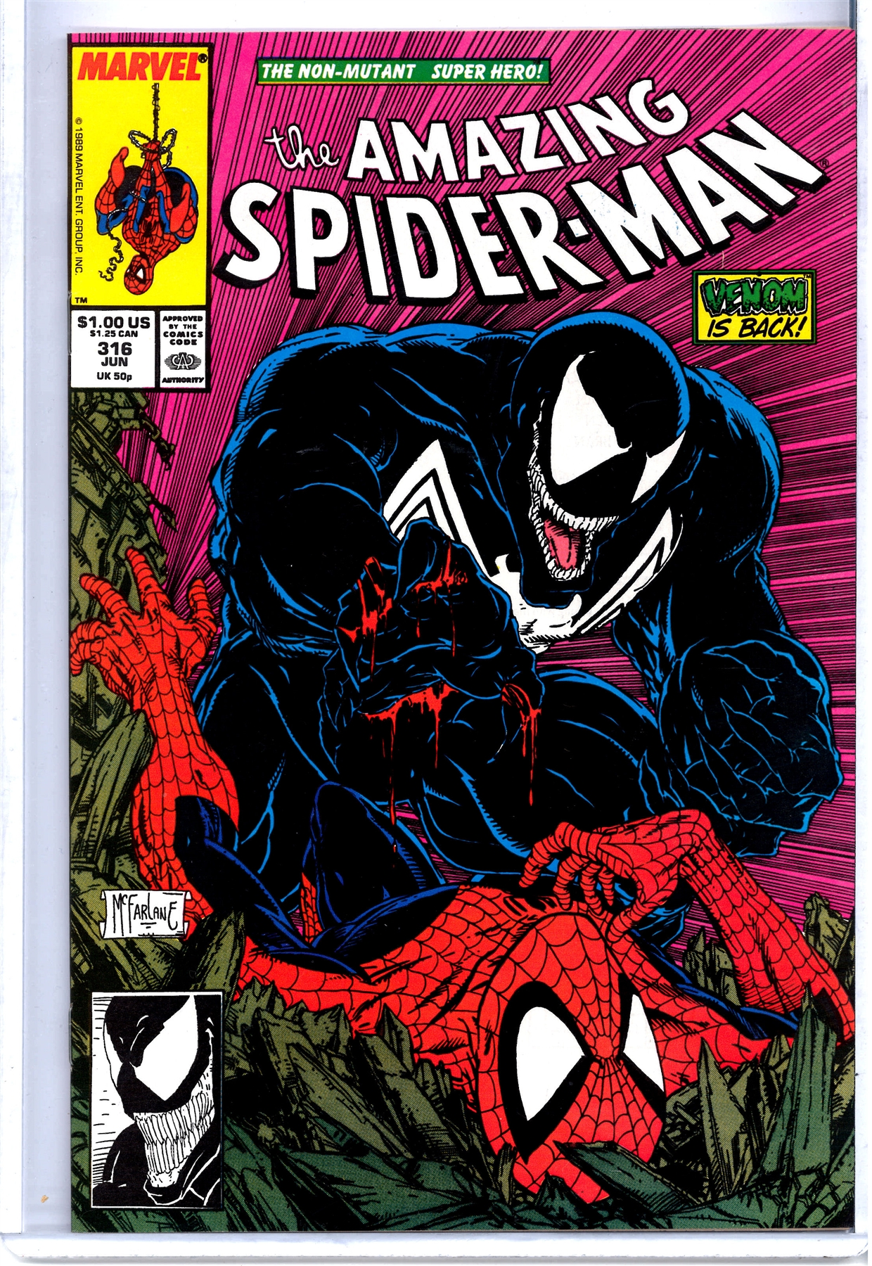 Amazing Spider-Man #316 by Todd McFarlane, first cover ...