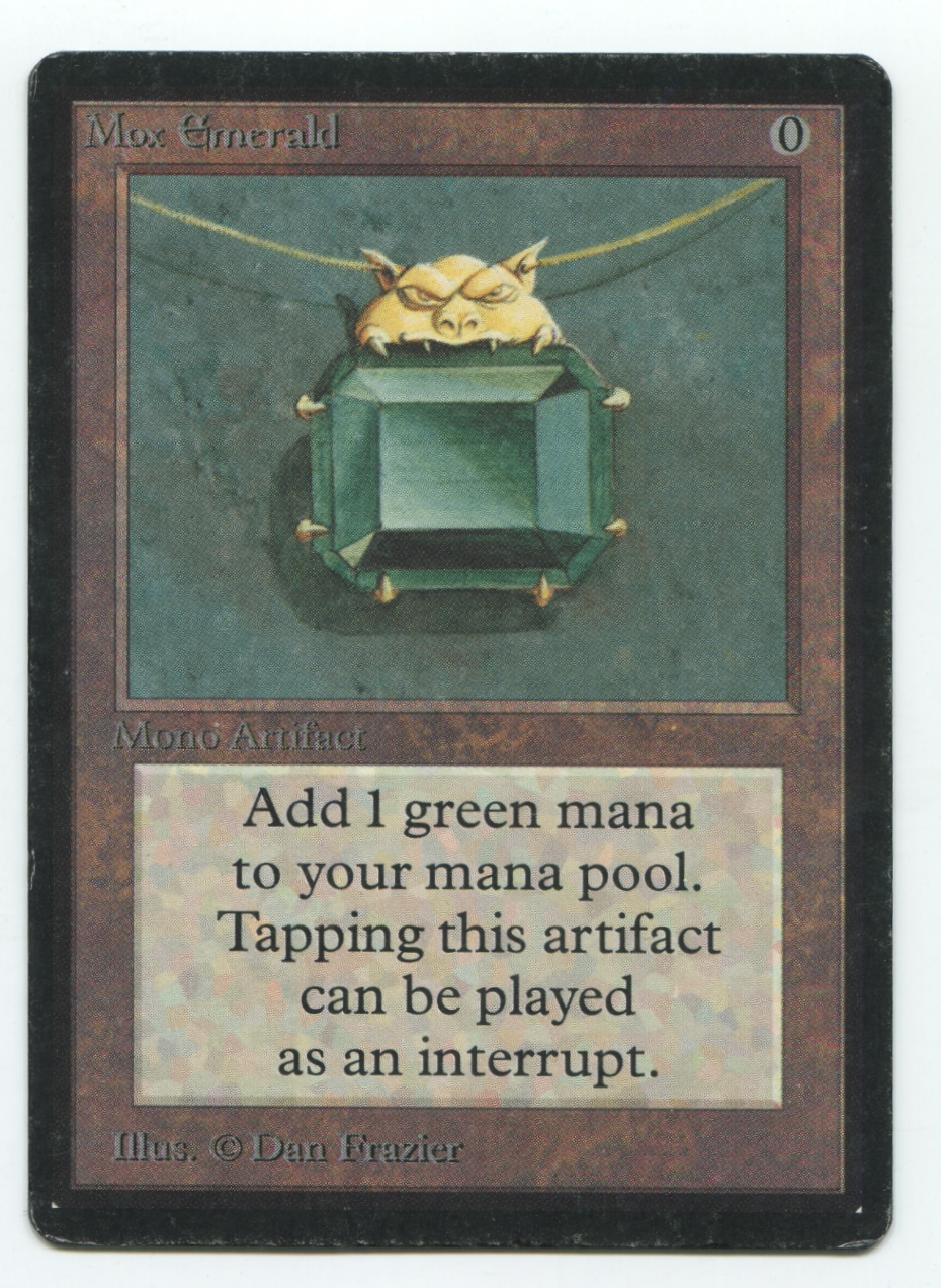 magic the gathering beta single mox emerald moderate play mp da card world. Black Bedroom Furniture Sets. Home Design Ideas