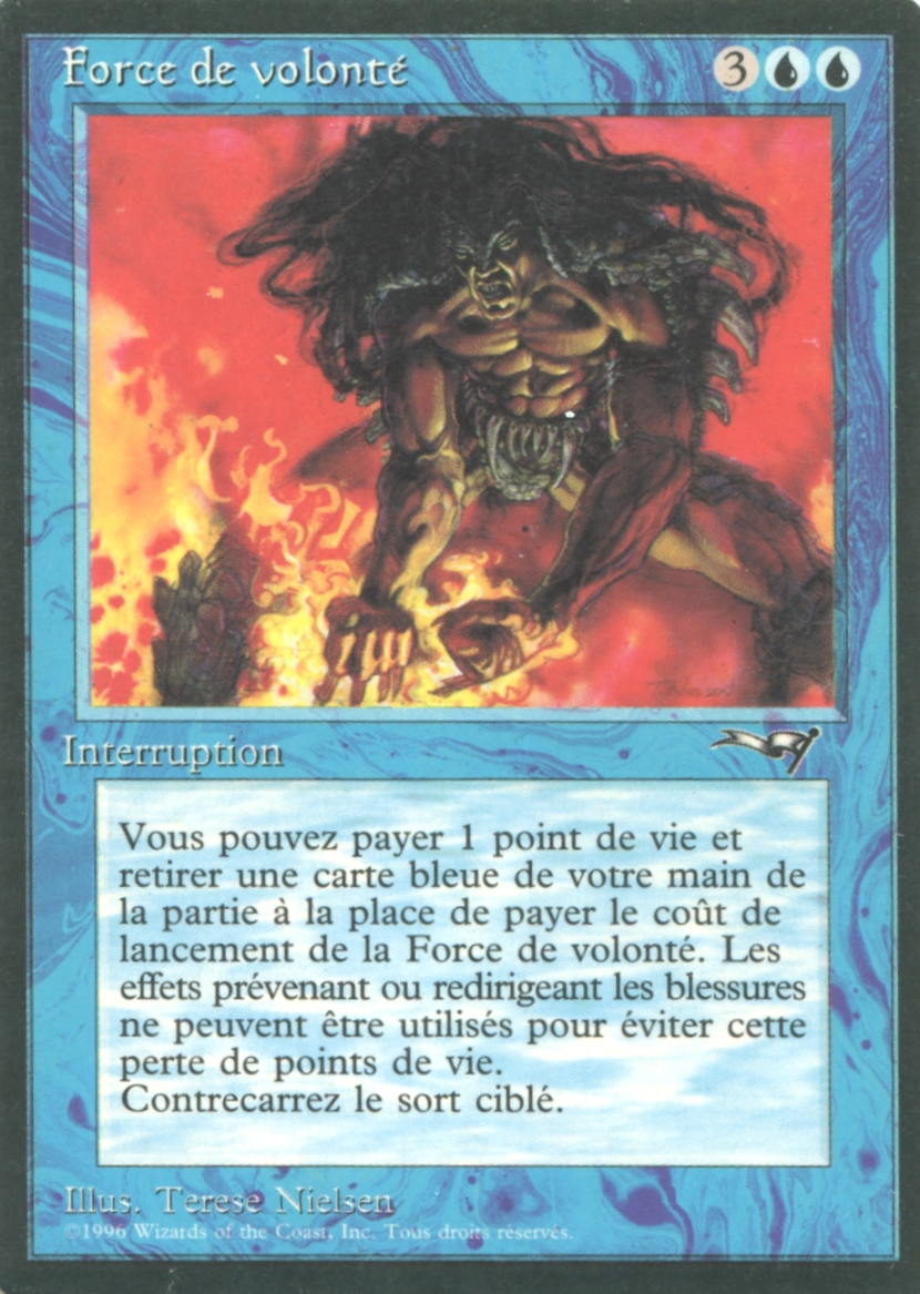 Magic The Gathering Alliances Single Force Of Will French