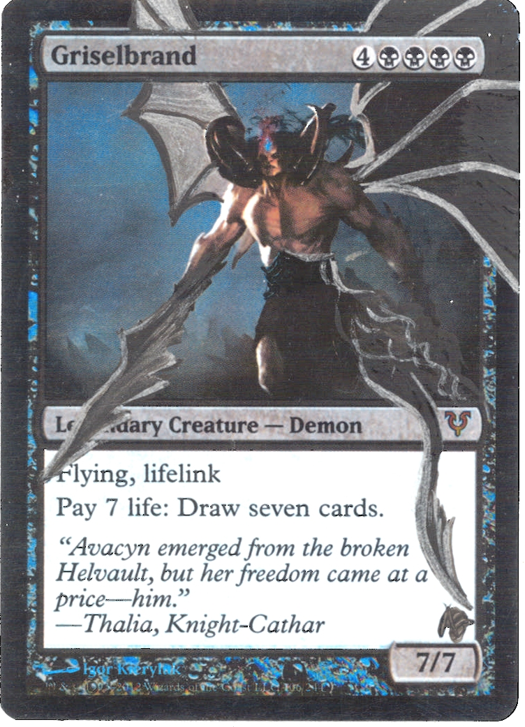 Magic the Gathering Avacyn Restored Single Griselbrand ...