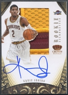 2012/13 Panini Preferred #327 Kyrie Irving Rookie Silhouettes Patch Auto #13/25