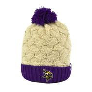 Minnesota Vikings '47 Brand Natural Matterhorn Womens Cuff Knit w/Pom (Adult One Size)
