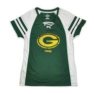 Green Bay Packers Majestic Green Draft Me VII V-Neck Lace Up Tee Shirt (Womens L)