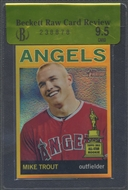 2013 Topps Heritage #HC10 Mike Trout Chrome Gold Refractor Rookie #1/5 BGS 9.5 Raw Card Review