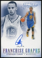 2013/14 Panini Signatures Franchise Graphs Platinum #8 Stephen Curry 1/1 Autograph