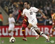 "Landon Donovan Autographed USMNT 8x10 ""Play On Ball"" UDA (Upper Deck)"