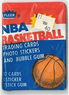 1986/87 Fleer Basketball Wax Pack (Jordan RC!) With Jordan Sticker on Back