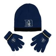 Duke Blue Devils Adidas Blue Cuffless Knit Hat with Gloves Combo Set (Toddler 2-4T)