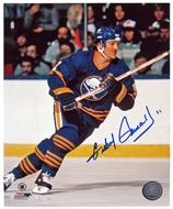 Gilbert Perreault Autographed Buffalo Sabres Helmet 8x10 Hockey Photo