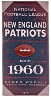 New England Patriots Vintage Sign 24x12 Artissimo