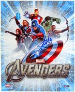 Stan Lee Autographed 8x10 Avengers Assemble Movie Photo