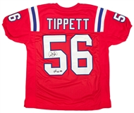 Andre Tippett Autographed New England Patriots Jersey w/