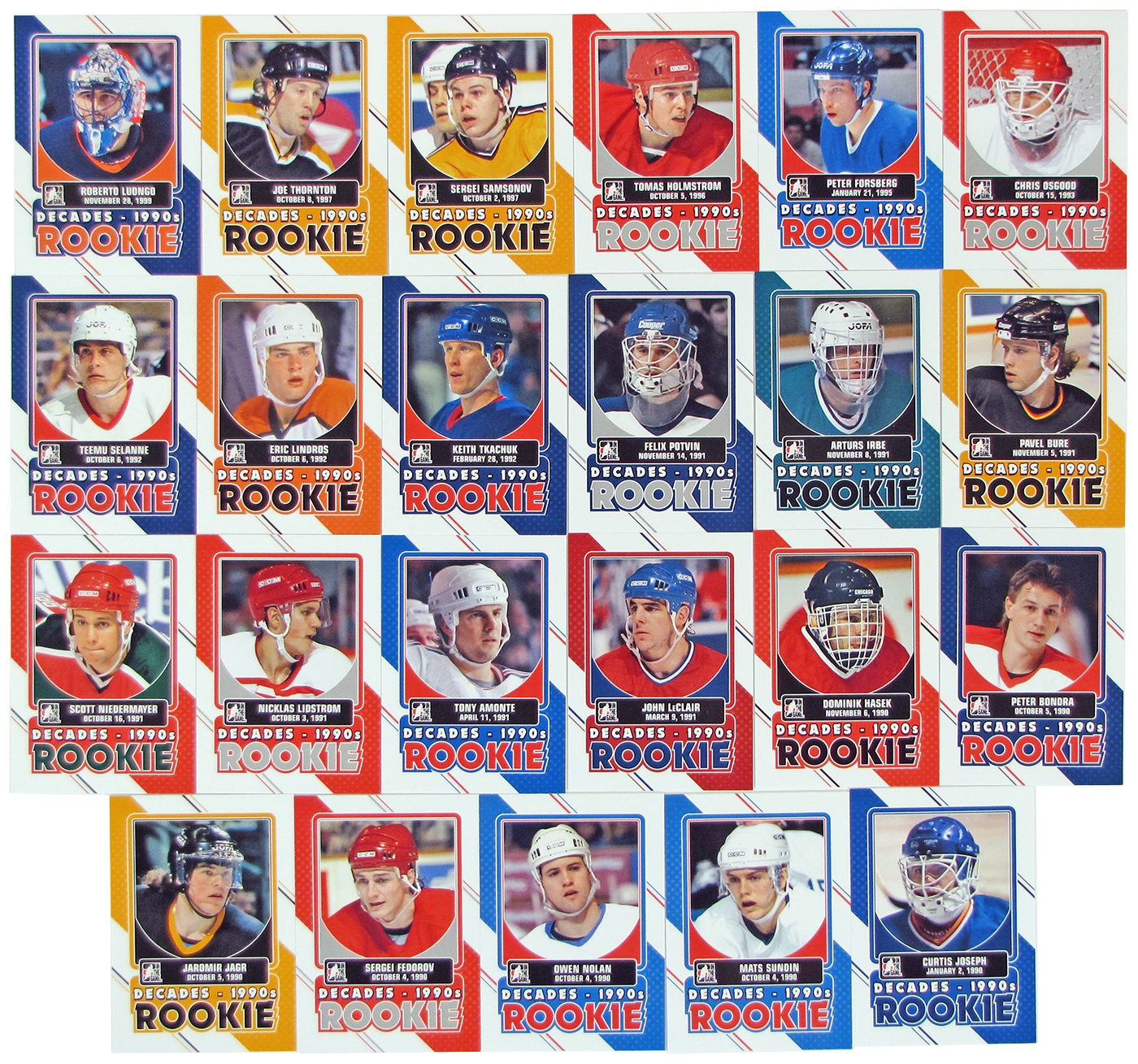2013-14 ITG Decades 1990s Rookies Hockey Complete 23 Card