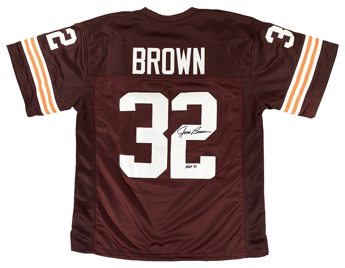 Jim Brown Autographed Cleveland Browns Football Jersey w ...