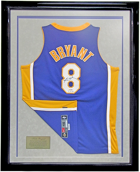 Kobe Bryant Autographed Amp Framed L A Lakers Authentic