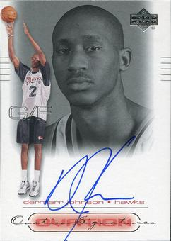 2000/01 Upper Deck Ovation Super Signatures #DM DerMarr Johnson