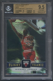 2004/05 Upper Deck #FT33 Michael Jordan Flight Team Onyx #04/23 BGS 9.5